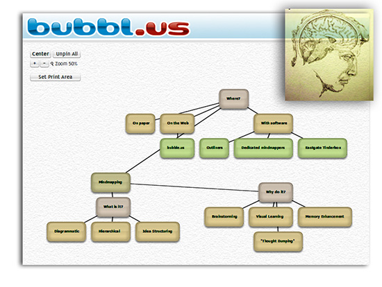 Mindmapping with bubble.us